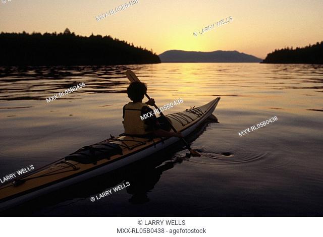 Kyaking, Vancouver Island, BC