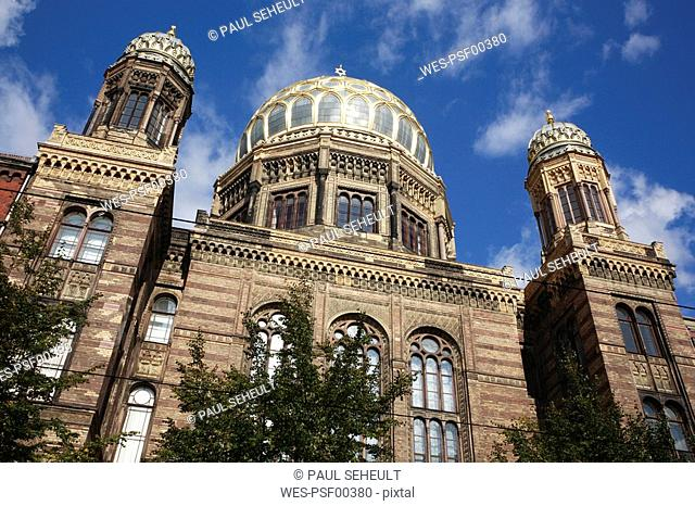 Germany, Berlin, New Synagogue, low angle view