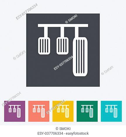 Pedal car single flat icon. Vector illustration