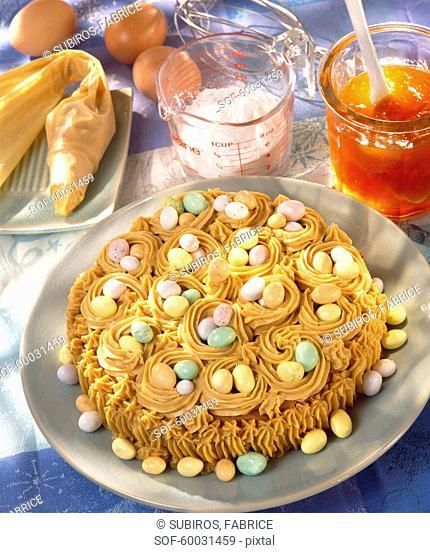 Easter moka cake