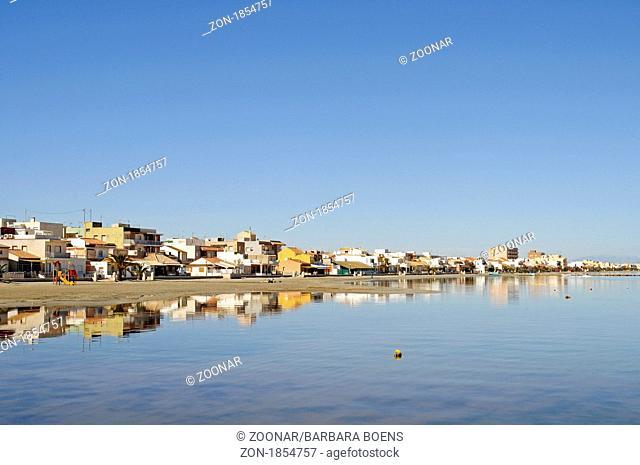 Los Nietos, Haeuser, Dorf, La Manga, Mar Menor, Murcia, Spanien