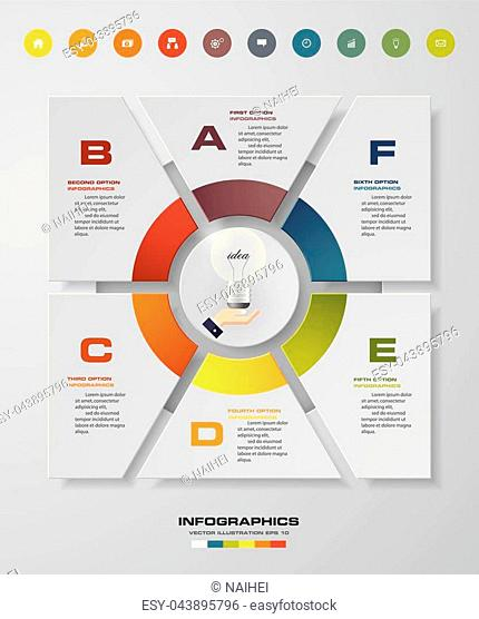 Infographic 6 steps business template vector illustration. EPS10