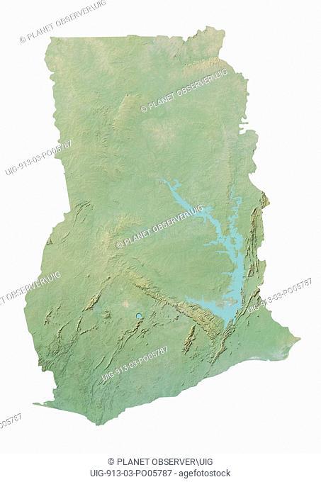 Ghana, Relief Map