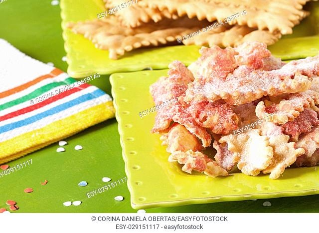 Italian typical fried pastry made with the occasion of the carnival