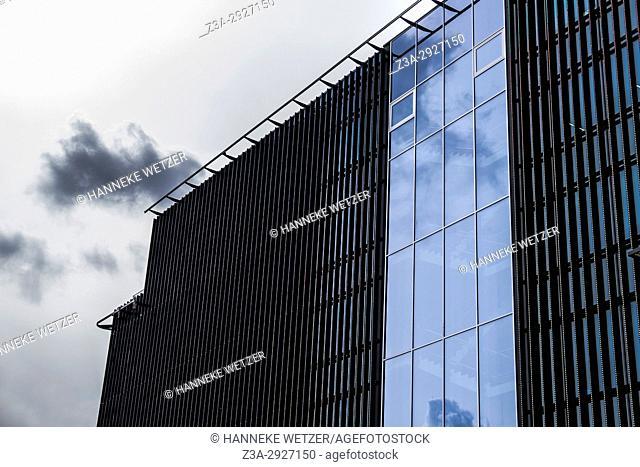 Modern architecture with led light in Tallinn, Estonia, Europe