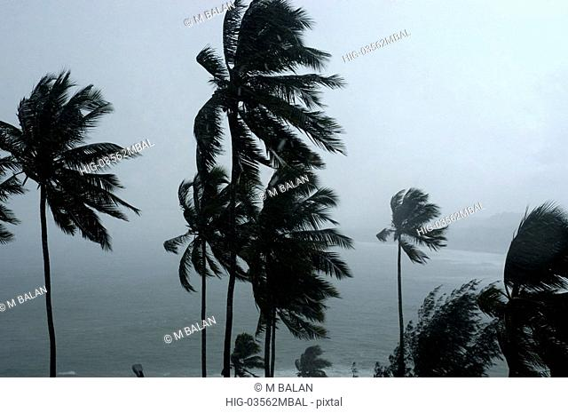 MONSOON RAGING OVER KOVALAM BEACH