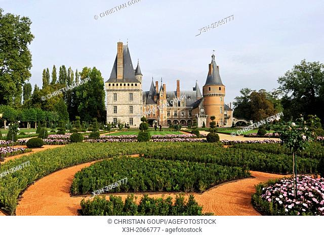 French formal garden style laid out by the master gardener Patrick Pottier according to the plans of Andre Le Notre the famous gardener of King Louis XIV