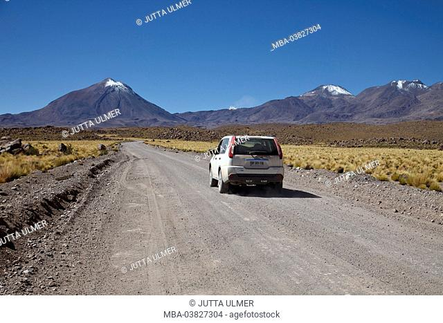 Chile, the North, Andines highland, volcanoes, car