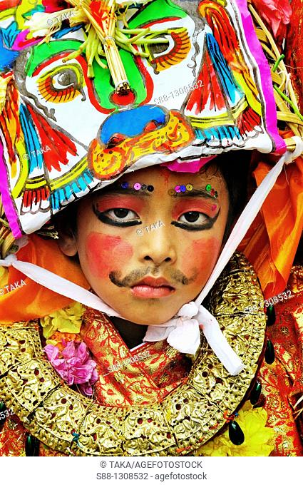 On the day of Gai Jatra festival in August at Durbar square