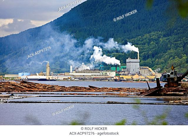 Pulp Mill, Port Alice, Northern Vancouver Island, Vancouver, British Columbia, Canada