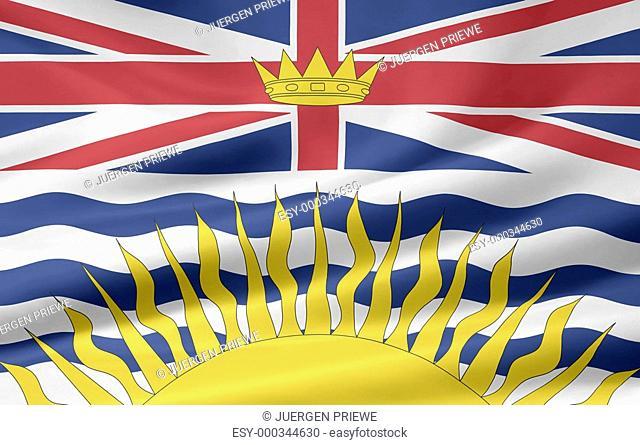 British Columbia Flagge