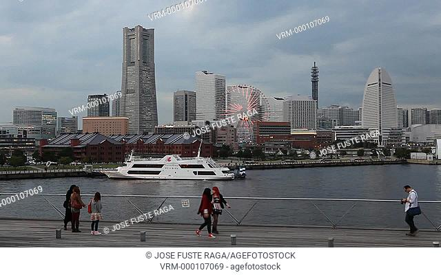 Japan-Yokohama City-Downtown Skyline-Land Mark Bldg