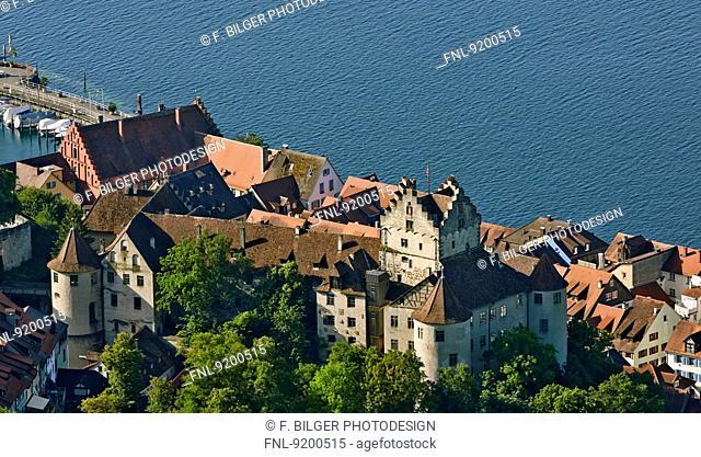 Meersburg at Lake Constance with Old Castle, Baden-Wuerttemberg, German