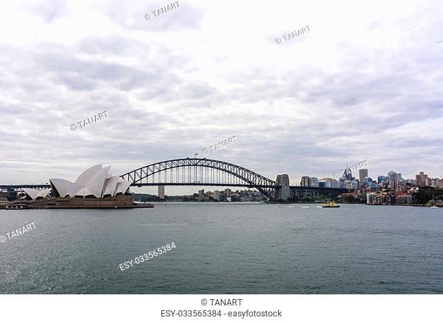 Cloudy cityscape of Sydney, NSW, Australia