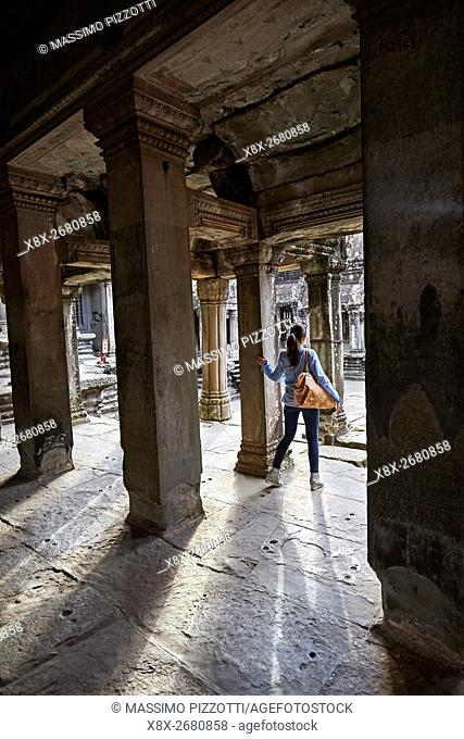 Interior of Angkor Wat temple, Siem Reap, Cambodia