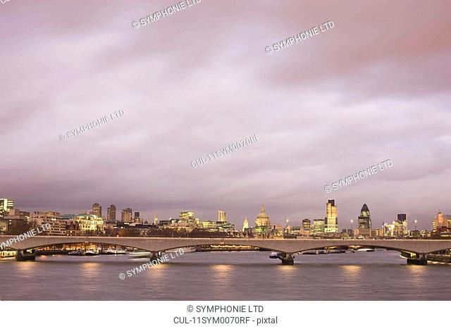London financial district skyline