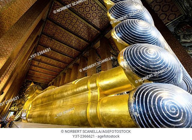 Asia. Thailande, Bangkok. What Pho. Reclining Buddha