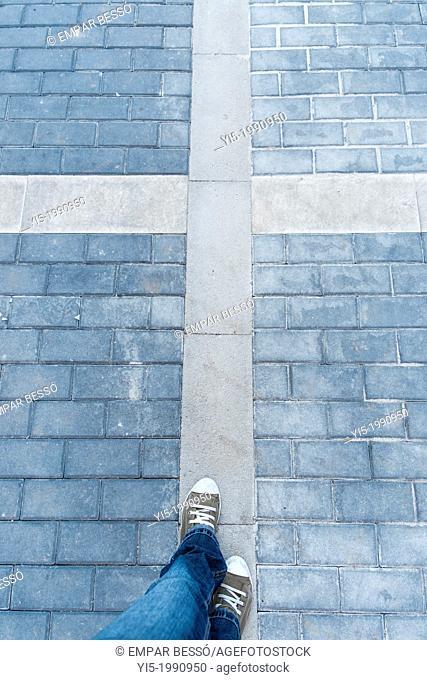 Walking. Valencia. Spain