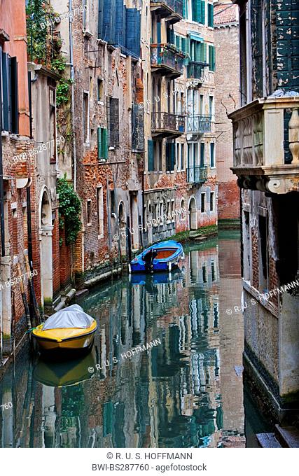 canal in the old city, Italy, Venice