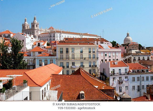 Alfama district, Sao Vicente de Fora Church, Lisbon, Portugal