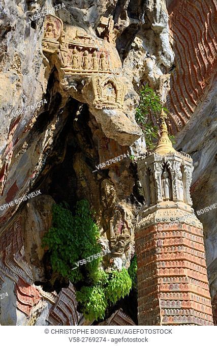 Myanmar, Kayin (Karen) State, Hpa-An surroundings, Kawgun cave
