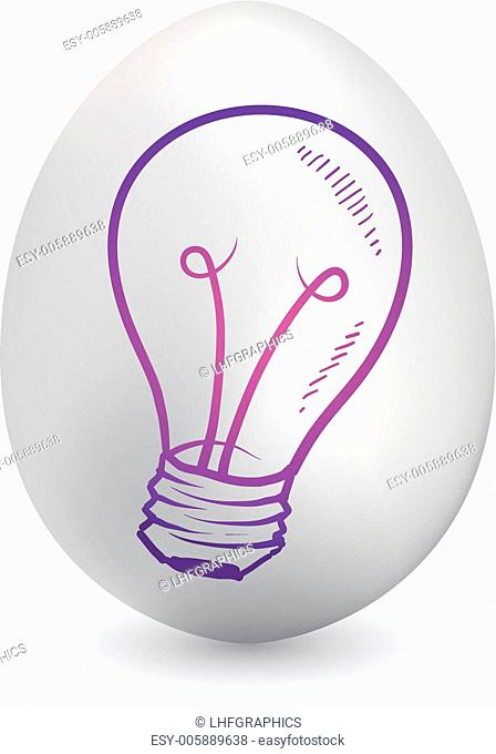 Invention light bulb easter egg vector