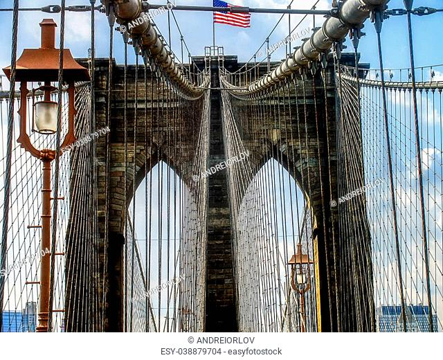 Views of New York City, USA, Brooklyn Bridge