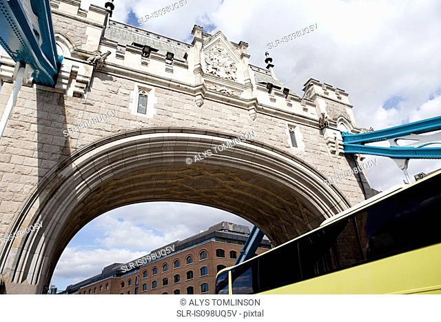 Arch of Tower bridge, London