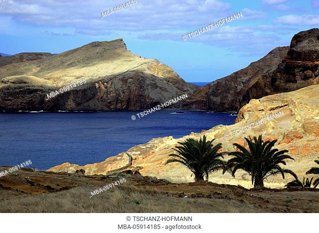 Madeira, at the Cap Ponta de Sao Lourenco, scenery at the eastern end of the island