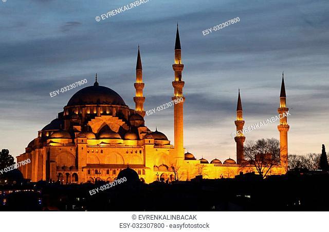 Suleymaniye Mosque in the afternoon, Istanbul City, Turkey
