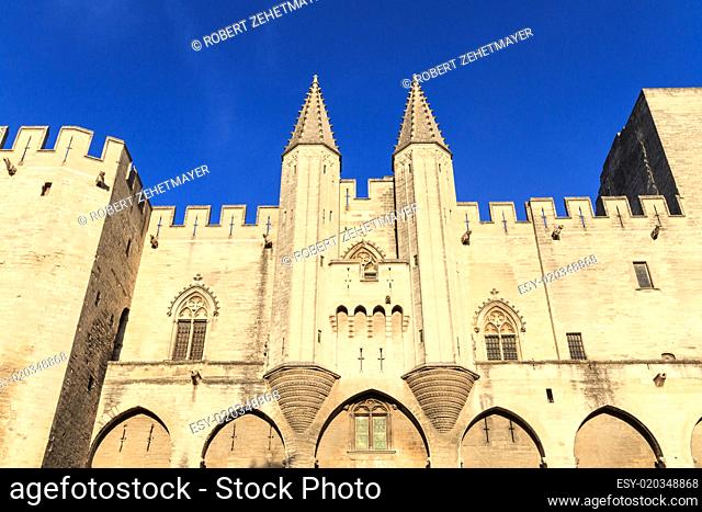 Avignon in Provence - View on Popes Palace