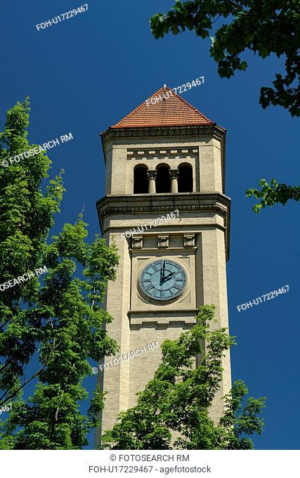 Spokane, WA, Washington, Clock Tower, Riverfront Park