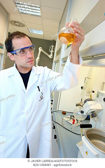 Rotavapor, Synthesis Laboratory, IkerChem research lab, design and synthesis of new chemical entities with therapeutic applications in oncology