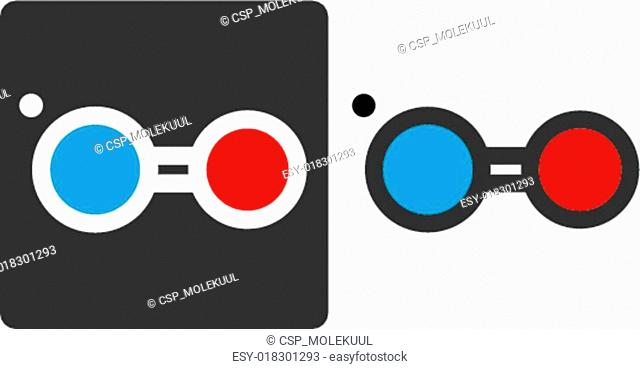 Nitric oxide (NO) free radical molecule, flat icon style. Atoms shown as color-coded circles (oxygen - red, nitrogen - blue)