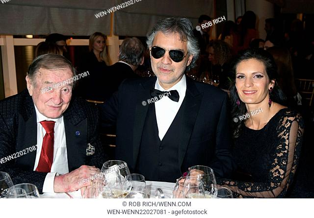 Andrea Bocelli and wife Veronica celebrate Le Cirque's 40th anniversary at a gala to benefit the Andrea Bocelli foundation Featuring: Sirio Maccioni