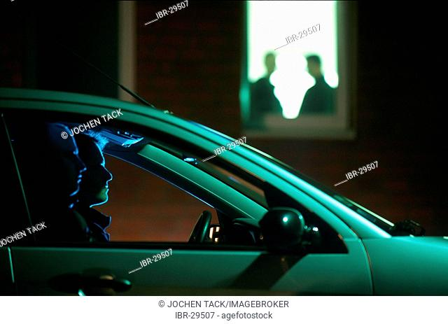 DEU, Germany: Special police officers during an observation of members of a organized drug crime group