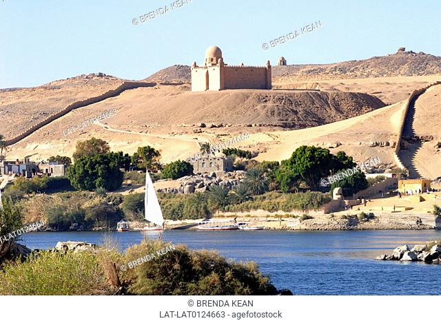 The mausoleum on the banks of the river Nile at Aswan is the burial place of Mohammed Shah Aga Khan who died in 1957