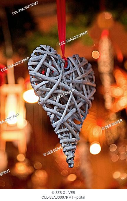 Heart shaped christmas decoration