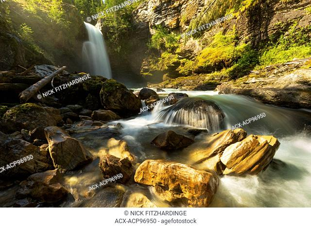 Sutherland Falls, Blanket Creek Provincial Park, Kootenay Region, British Columbia, Canada
