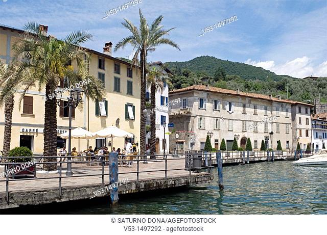 Riva di Solto on the shore of Lake Iseo - Lombardy - Italy