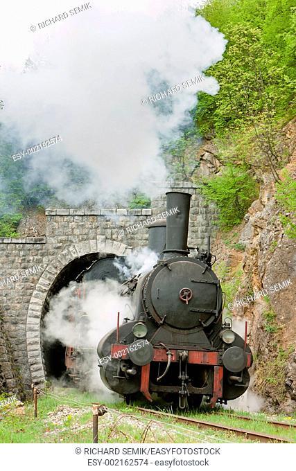 steam locomotive 126 014, Resavica, Serbia