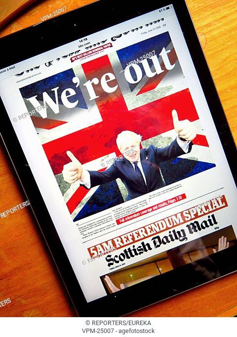 After brexit;lendemain du brexit Reporters / EUREKA