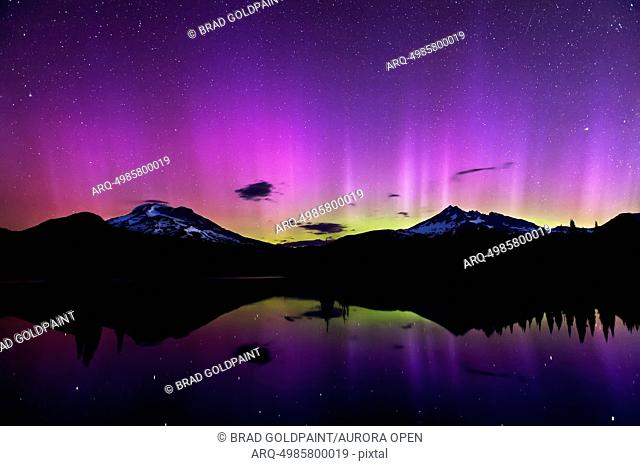 Aurora Borealis over Sparks Lake