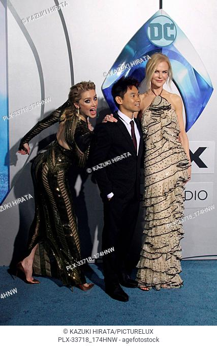 """Amber Heard, James Wan, Nicole Kidman 12/12/2018 """"""""Aquaman"""""""" Premiere held at the TCL Chinese Theatre in Hollywood, CA Photo by Kazuki Hirata / HNW / PictureLux"""