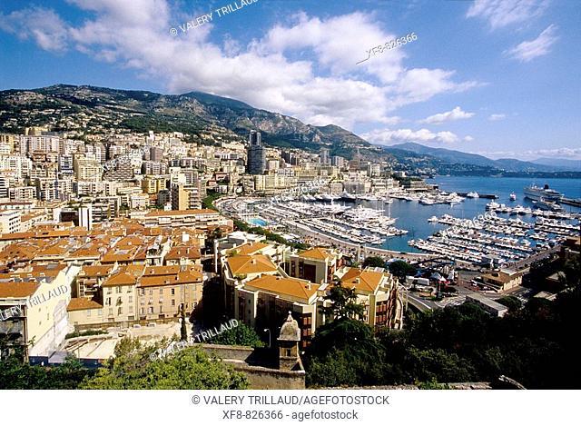 Monaco, Monte Carlo, Principaute de Monaco, French Riviera, cote d'azur, Europe