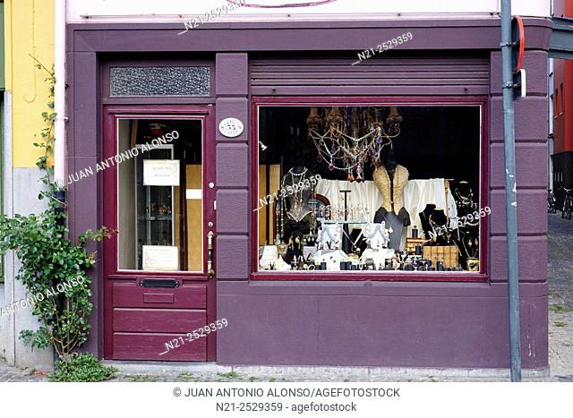 Jewelry shop. Ghent, Belgium, Europe