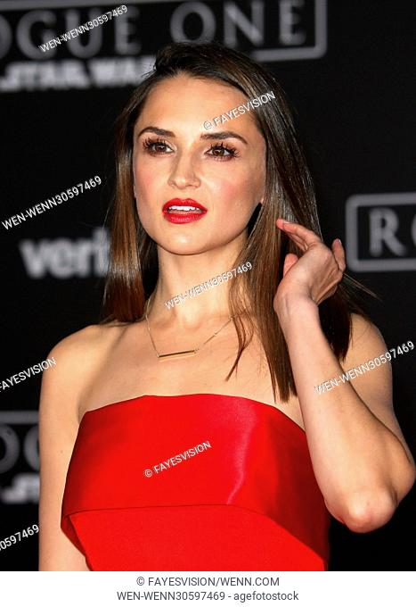 """Premiere Of Walt Disney Pictures And Lucasfilm's """"""""Rogue One: A Star Wars Story"""""""" Featuring: Rachael Leigh Cook Where: Hollywood, California"""