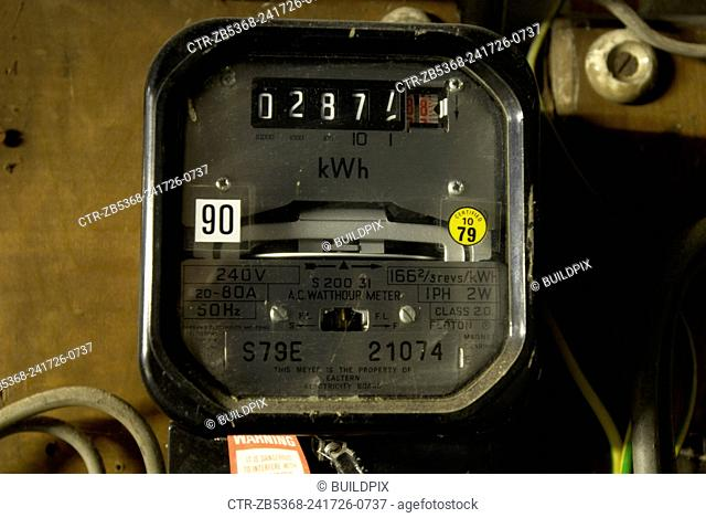 Old electrical installation with meter