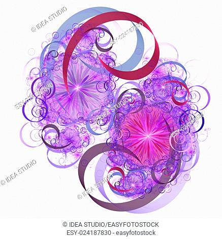 Abstract fractal illustration for modern creative design