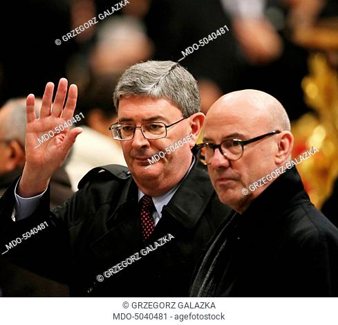 The writer George Weigel attending the Holy Mass celebrated by the Pope Francis (Jorge Mario Bergoglio) in the honour of Our Lady of Guadalupe at Saint Peter's...